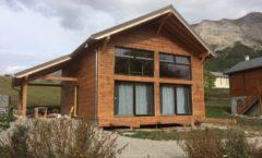 Maison ossature bois dans le Devoluy sur dalle bois