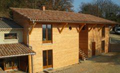 Extension de maison pour Gîte en ossature bois - Ardèche