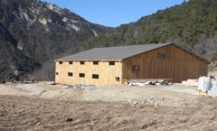 Construction d'un hangar en ossature bois à la ferme de Beaumugnes