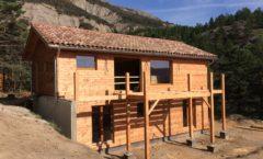 Maison en ossature bois à Aspres sur Büech