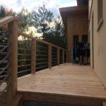 Terrasse en Douglas et balustrade bois et tube inox