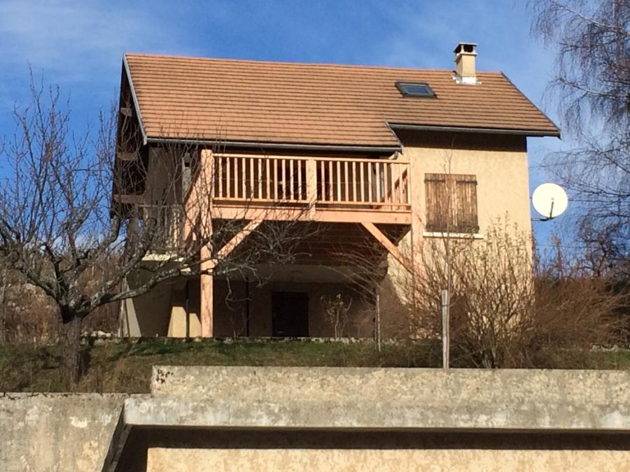 Terrasse en douglas - On va pouvoir profiter du soleil!